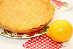 Piece of lemon pie Royalty Free Stock Photography