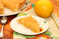 Piece of lemon pie Stock Image