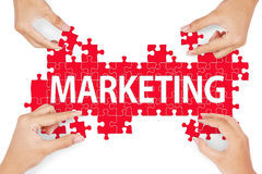 Piece of marketing solution concept Royalty Free Stock Photography