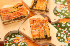 Piece of meat pie Royalty Free Stock Image