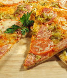 Piece of Meat Pizza Royalty Free Stock Photos