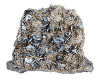 Piece of mineral stone with magnetite crystals Stock Photography