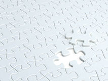 1 piece missing jigsaw puzzle Stock Photo