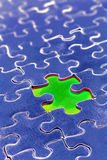 Piece missing from puzzle Royalty Free Stock Photography