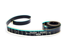 Piece of 35 mm motion film Stock Photography