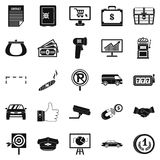 Piece of money icons set, simple style Royalty Free Stock Image