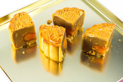 Piece of moon cake Stock Images