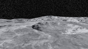 A piece of the moon's open space Stock Photo