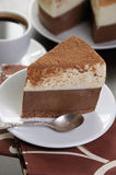 Piece of mousse cake Stock Photography