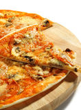 Piece of Mushroom Pizza Royalty Free Stock Images
