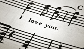 Piece of musical notes Stock Images