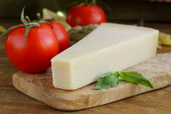 Piece of natural parmesan cheese Royalty Free Stock Photography