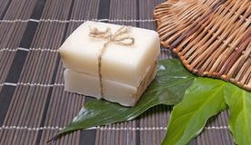 Piece of natural soap Royalty Free Stock Image
