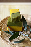 Piece of natural soap. Stock Photos