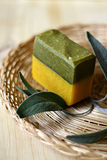 Piece of natural soap. Stock Images