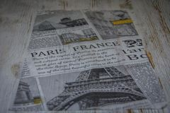 Piece of newspaper with photos Stock Photo