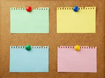 Piece of note paper on a brown background Royalty Free Stock Photos