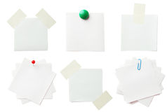 Piece of note paper on the white background Royalty Free Stock Images