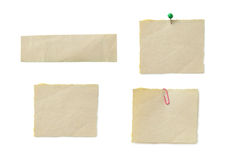 Piece of note paper on the white background Stock Photo