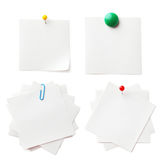 Piece of note paper on the white background Royalty Free Stock Photography