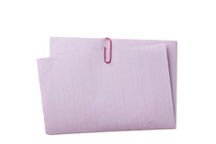 Piece of note paper Stock Photography