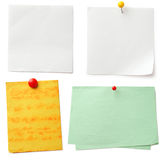 Piece of note paper. On white background, collage Royalty Free Stock Photo