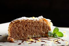 Piece of nut/apple cake Stock Images