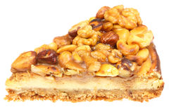 Piece of nut cake Royalty Free Stock Photos