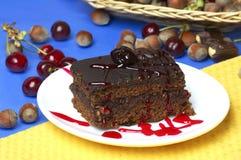 Piece  Nut Cake Royalty Free Stock Photo