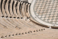 Piece of Odeon in Athens. Odeon of Herodes Atticus - theater in the capital of Greece Athens Royalty Free Stock Photography