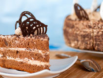 Piece Of Cake On A Plate Royalty Free Stock Image