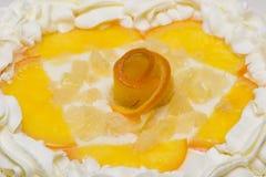 Piece Of Cake With Cream Royalty Free Stock Photos