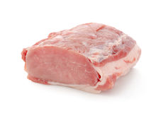 Piece Of Pork Isolated Royalty Free Stock Photos
