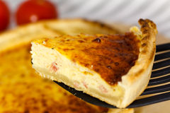 Piece Of Quiche Lorraine ,close Up Stock Image