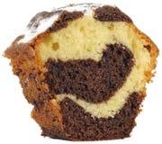 Piece Of Vanilla And Chocolate Sponge Cake Stock Photos