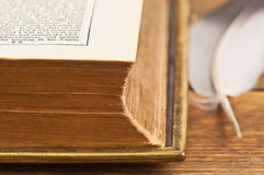 Piece of old book Stock Photography