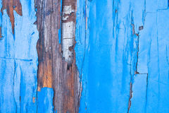 Piece of old painted boat Stock Images