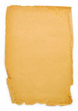 Piece of old paper. Piece of old yellowish paper royalty free stock images