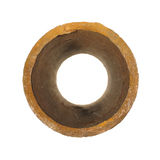 Piece of old rusty iron pipes isolated on white background. Stock Image