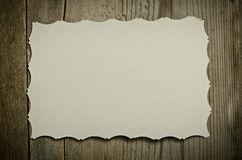 The piece of old white paper Royalty Free Stock Photo