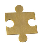 Piece of old wooden puzzle Royalty Free Stock Photos