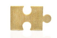 Piece of old wooden puzzle Royalty Free Stock Photography