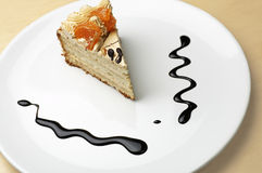 Piece of orange pie Royalty Free Stock Photo