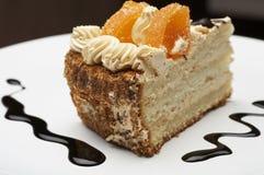 Piece of orange pie Royalty Free Stock Images