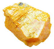 Piece of orpiment stone isolated on white Royalty Free Stock Photography