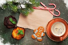 Piece of paper for christmas wishes Royalty Free Stock Images