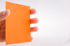 Piece of paper in hand Royalty Free Stock Photography