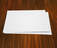 Piece of Paper on Table Stock Photo