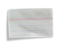 Piece of paper. On white background Royalty Free Stock Photography