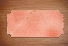 Piece of paper on wooden desk Royalty Free Stock Photos
